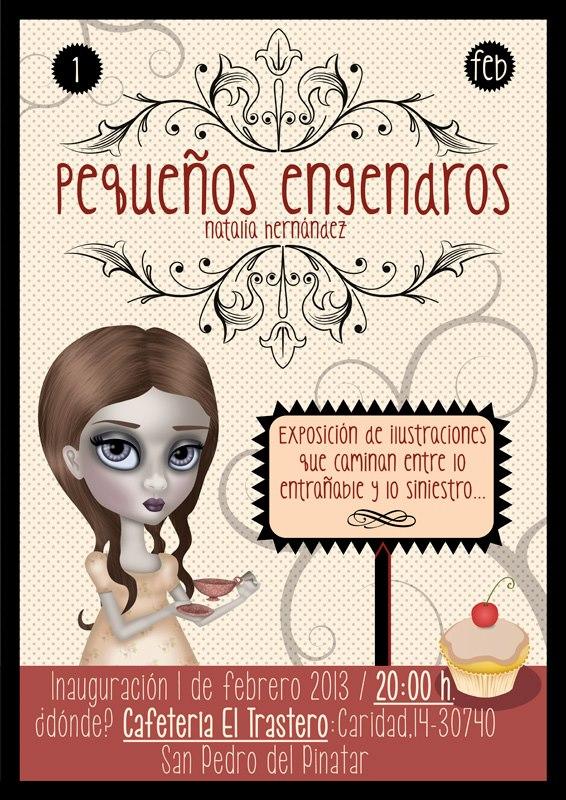 Exposición Pequeños Engendros. Natalia Hernández